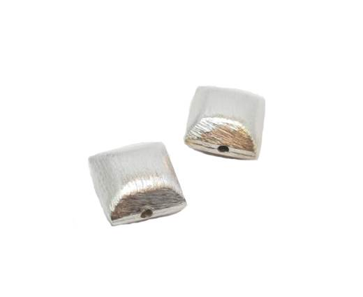 Silver plated Brush Beads - 7458