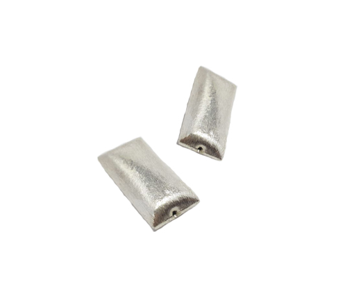 Silver plated Brush Beads - 7460
