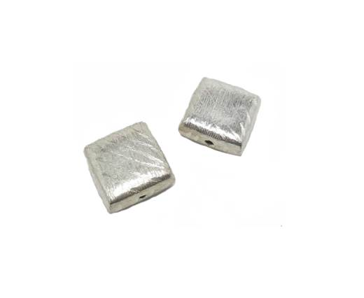 Silver plated Brush Beads - 7601