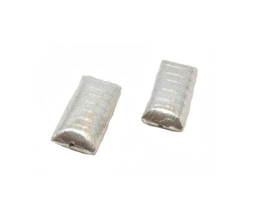 Silver plated Brush Beads - 7602