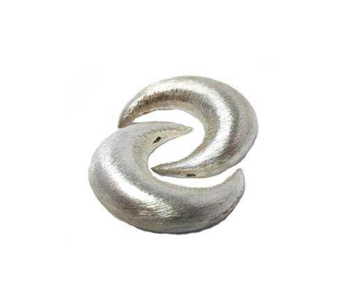 Silver plated Brush Beads - 7628
