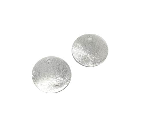 Silver plated Brush Beads - 7688