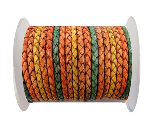 Buy Round Braided Leather Cord SE/DM/06-Sun - 3mm at wholesale prices