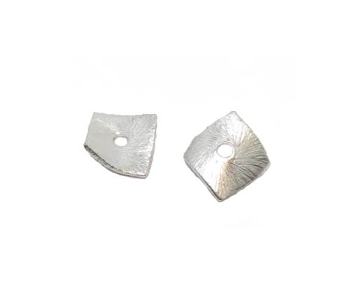 Silver plated Brush Beads - 7753