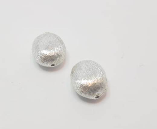 Silver plated Brush Beads - 8044