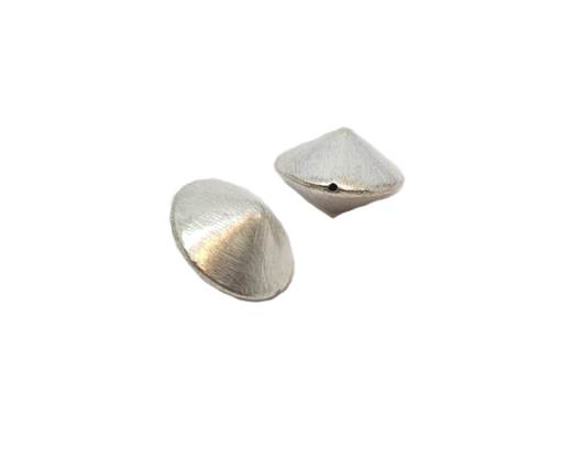 Silver plated Brush Beads - 8097