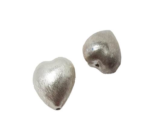 Silver plated Brush Beads - 8214
