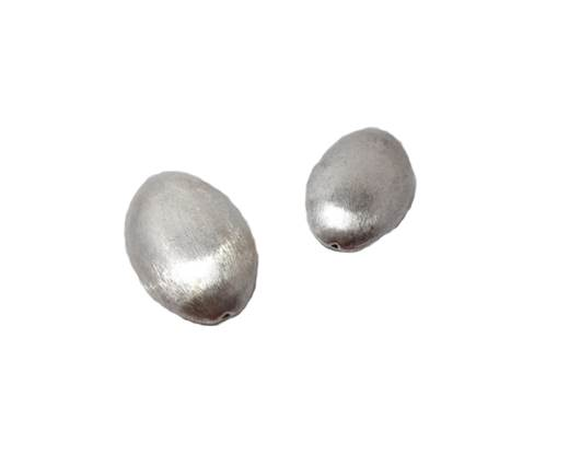Silver plated Brush Beads - 8401