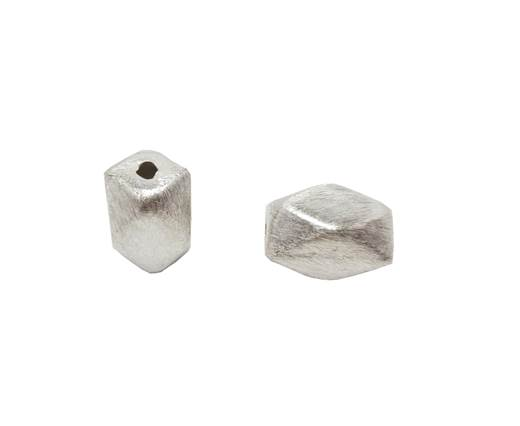 Silver plated Brush Beads - 8437