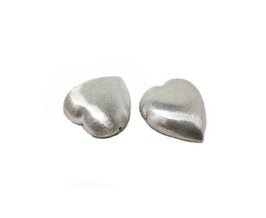 Silver plated Brush Beads - 8464