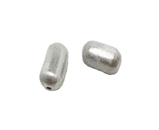 Silver plated Brush Beads - 8473