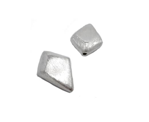 Silver plated Brush Beads - 8580