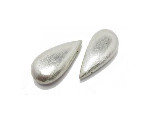 Silver plated Brush Beads - 8618