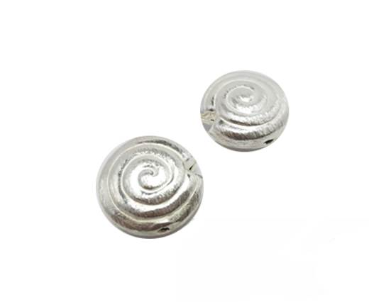 Silver plated Brush Beads - 8740