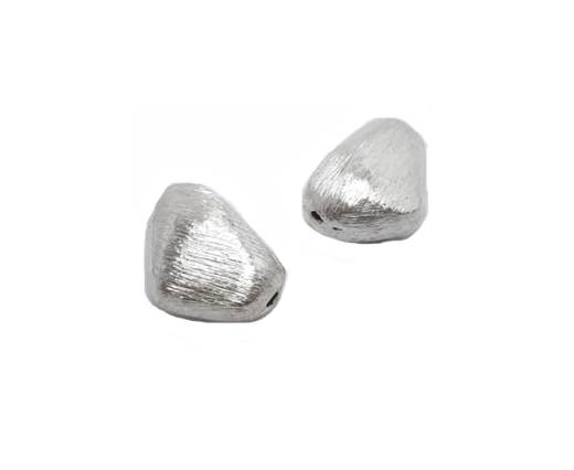 Silver plated Brush Beads - 8758