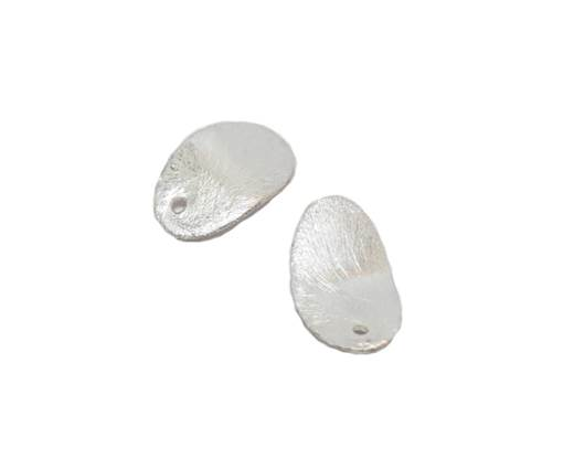 Silver plated Brush Beads - 8768