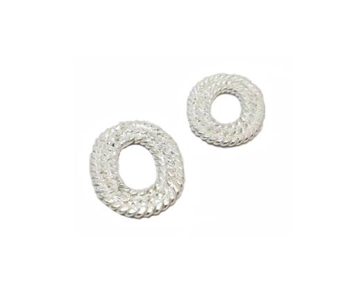 Silver plated Brush Beads - 8792