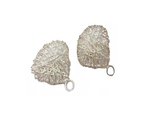 Silver plated Brush Beads - 8806