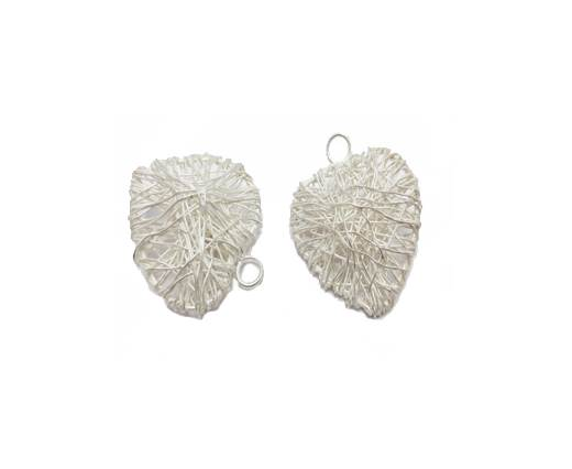 Silver plated Brush Beads - 8807