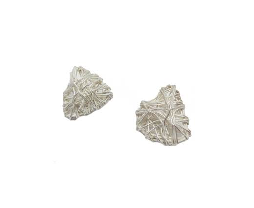 Silver plated Brush Beads - 8821