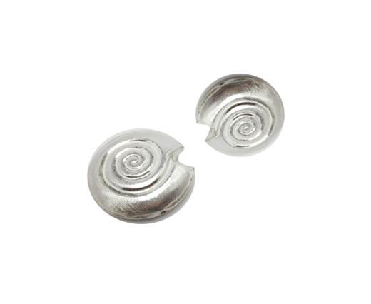 Silver plated Brush Beads - 8835