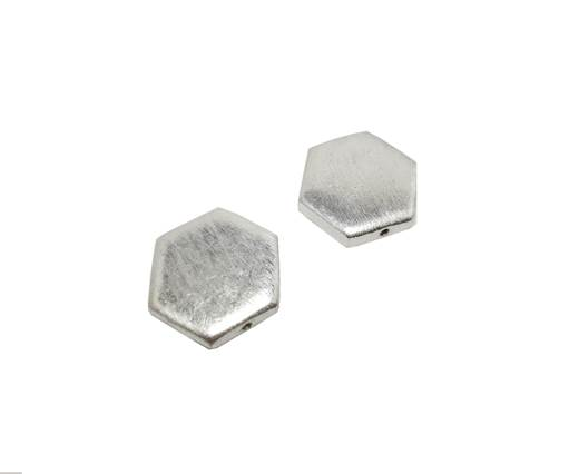 Silver plated Brush Beads - 8846