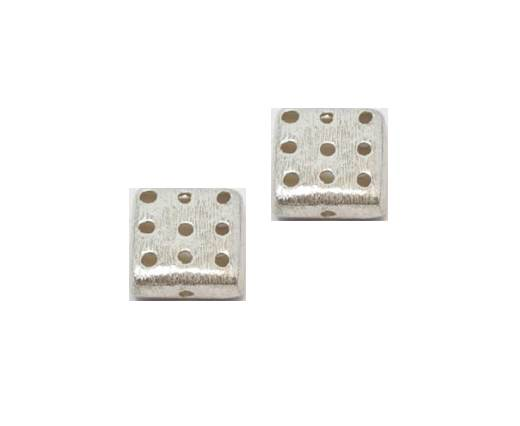 Silver plated Brush Beads - 8945