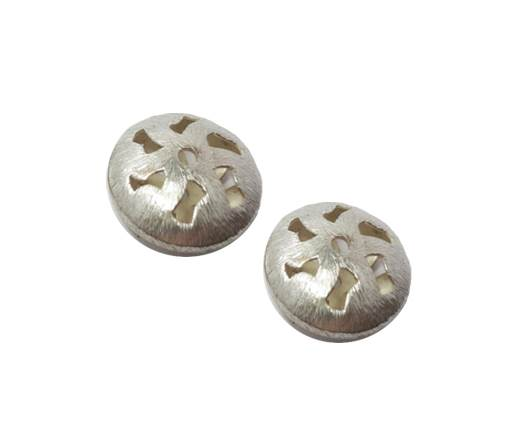 Silver plated Brush Beads - 8947
