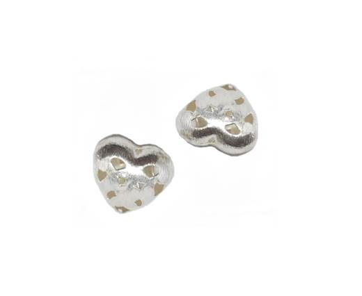Silver plated Brush Beads - 8948