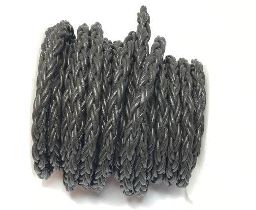 Round Bolo Twist Leather Cord-6mm- dark brown
