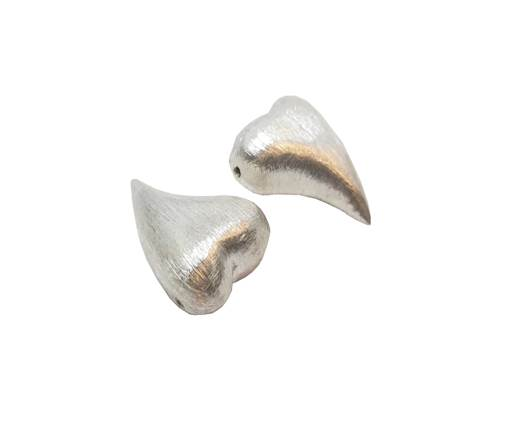 Silver plated Brush Beads - 9174
