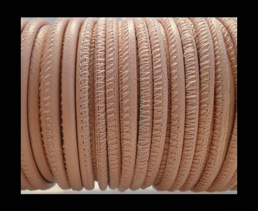 Round stitched nappa leather cord Nude-2,5mm