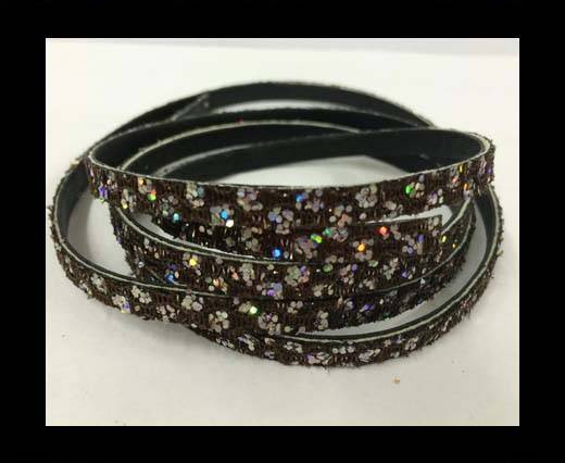 Buy Flat Nappa Glitter  Style Cord - 5mm - SE-FNG-14 at wholesale prices