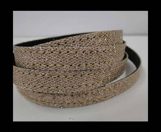 Buy Flat Nappa Glitter  Style Cord - 5mm - SE-FNG-15 at wholesale prices