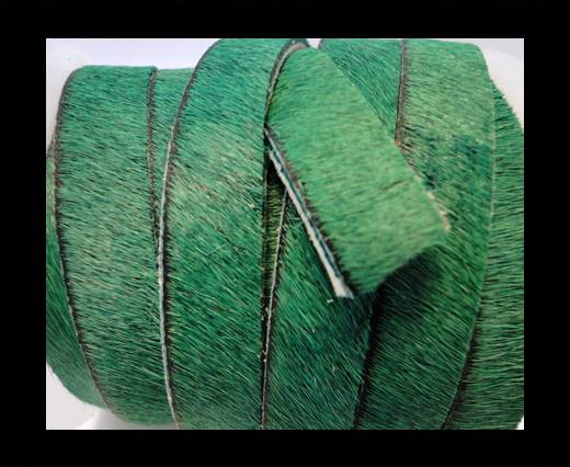 Buy Hair-On-Flat Leather-Hunter Green-5MM at wholesale prices