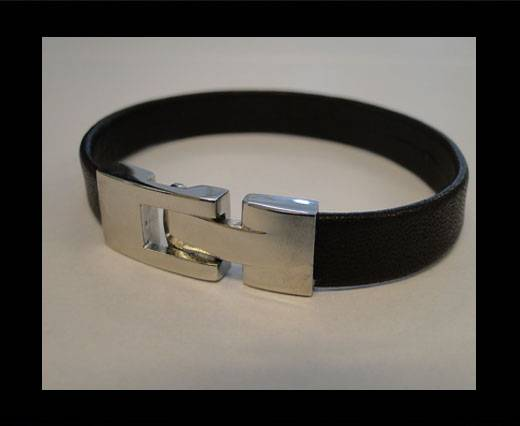 Unisex Leather Bracelet MLBSS-10
