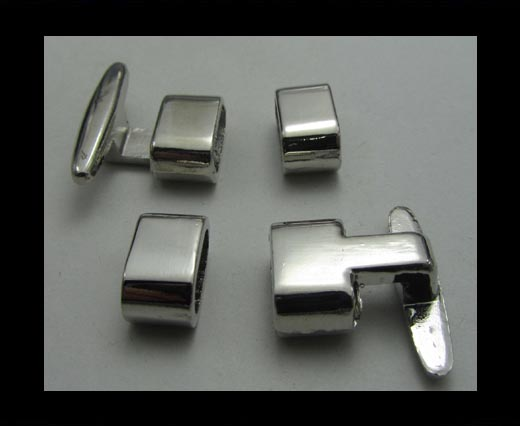 Buy Zamak magnetic clasp ZAML-12-Antique Silver at wholesale prices