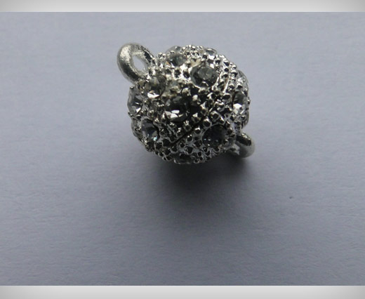 Magnetic Lock with Crystals - MG2-12mm-Silver