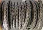 imitation nappa leather 4mm Snake-Style- Round Grey