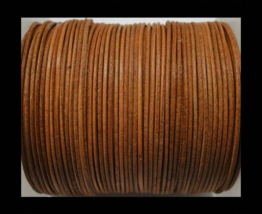 Buy Round Leather Cord  - Vintage Tan - 1mm at wholesale prices