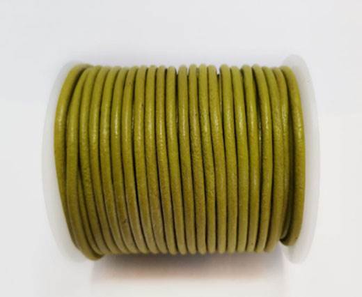 Round Leather Cord - 3mm - ANDROID GREEN