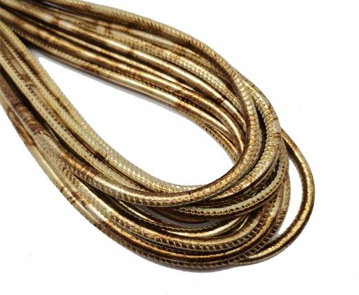 Round Stitched Nappa Leather Cord-4mm-antique gold1