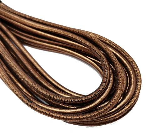 Round Stitched Nappa Leather Cord-4mm-antique gold