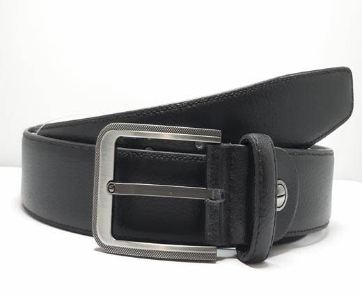 Formal-Adjustable-Leather-Belt-Art Alce (Stc) Black