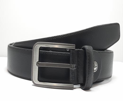 Formal-Adjustable-Leather-Belt-Art Alce (Stc) Black