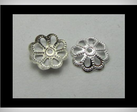 Buy Bead Caps FI7018-Silver at wholesale prices