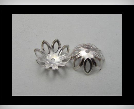 Buy Bead Caps FI-7019-Silver at wholesale prices