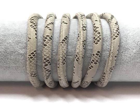 Fine Nappa-Python style-6mm-Beige