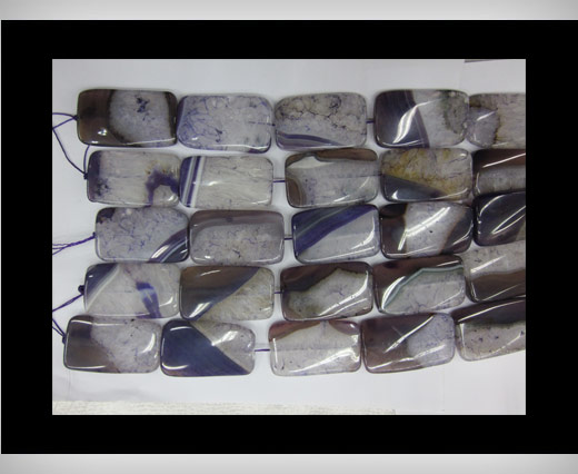 Buy Big Rectangle Purple Agate NS-062 at wholesale prices