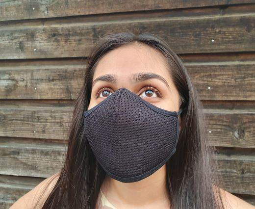 6 ply cotton washable masks - Black